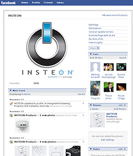 insteon's facebook page
