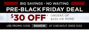 Pre-Black Friday Sale 11-22-2013