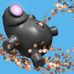Wink Porkfolio Smart Piggy Bank, Black