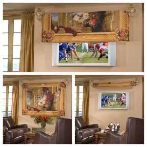 tomated Tapestry Flat-Screen TV Cover Kit